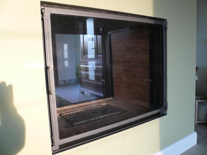 Gordijn Voor Deur : Open haard gordijnen vonkenschermen en deuren bouwsmederij noël