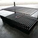 korf met enkel RVS grill, om eventueel in de haard te plaatsen