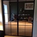 dubbel deur met 6 kleine ruiten/deur