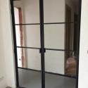 dubbele deur met 4 horizontale ruiten/deur