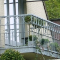 Balkonleuning in gegalvaniseerd staal.