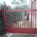 Metalen tuinpoortje, zonder kader, met vast paneel.