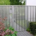RVS tuinpoortje met 2 vaste panelen