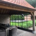 Glazen wand poolhouse